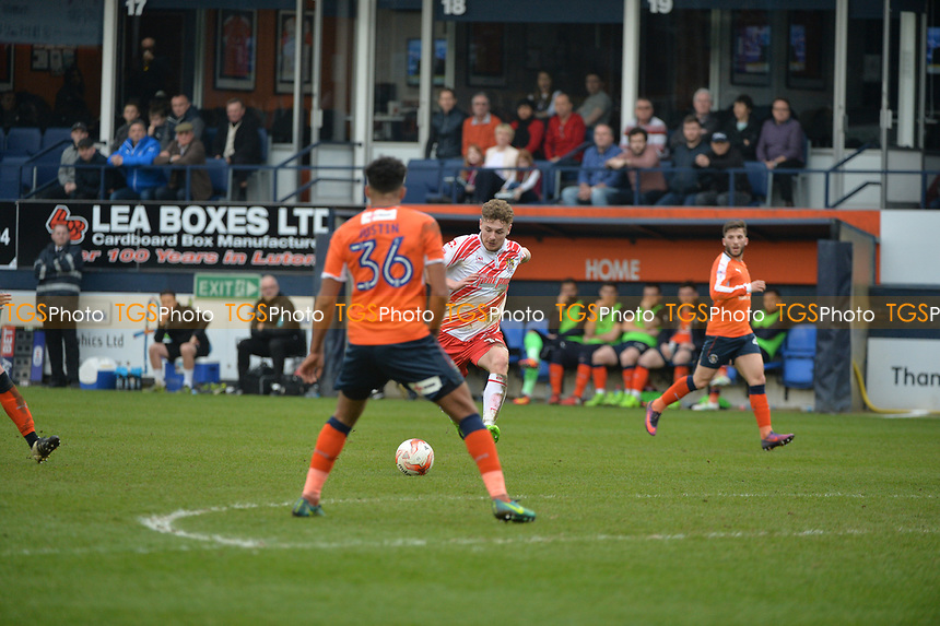 ben kennedy shots and score during Luton Town vs Stevenage, Sky Bet EFL League 2 Football at Kenilworth Road on 11th March 2017