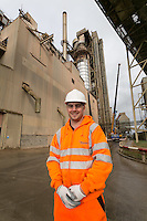 Hanson Cement works at Ketton's Engineering Manager Danny Osborne