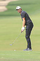 Thomas Pieters (BEL) on the 3rd during Round 1 of the Omega Dubai Desert Classic, Emirates Golf Club, Dubai,  United Arab Emirates. 24/01/2019<br /> Picture: Golffile | Thos Caffrey<br /> <br /> <br /> All photo usage must carry mandatory copyright credit (&copy; Golffile | Thos Caffrey)