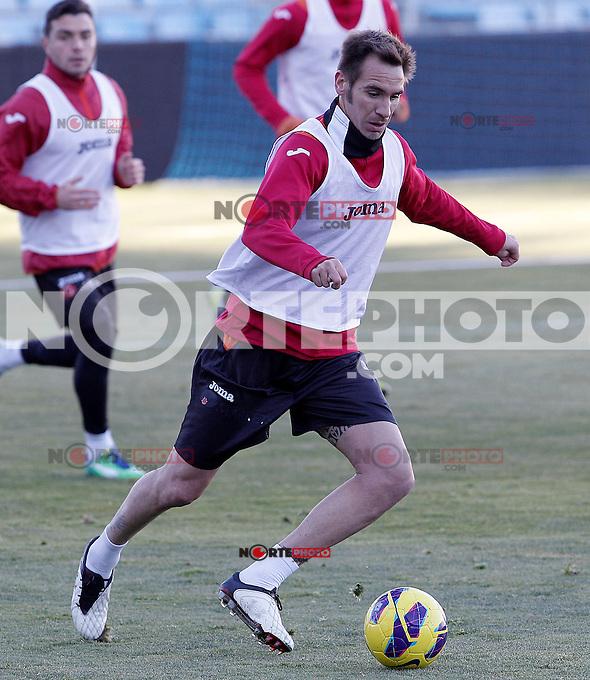 Getafe's Borja Fernandez during training session.December 05,2012.(ALTERPHOTOS/Acero) /NortePhoto