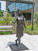 Statue of former first lady Betty Ford in front of the Gerald R. Ford Presidential Library and Museum in Grand Rapids, Michigan on Sunday, June 30, 2019.<br /> Credit: Ron Sachs / CNP