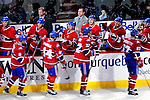 26 October 2009: The Montreal Canadiens celebrate the first goal of the game against the New York Islanders at the Bell Centre in Montreal, Quebec, Canada. The Canadiens defeated the Islanders 3-2 in sudden death overtime for their 4th consecutive win. Mandatory Credit: Ed Wolfstein Photo