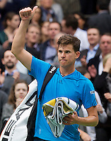 Rotterdam, The Netherlands. 13.02.2014.Dominic Thiem(OOS) at the ABN AMRO World tennis Tournament<br /> Photo:Tennisimages/Henk Koster