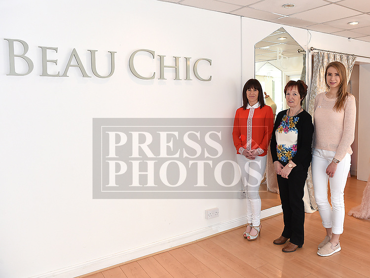 Sabrina, Kathleen and Ciara from Beau Chic Bridal Studio. Photo:Colin Bell/pressphotos.ie
