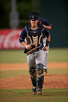 Catcher Chandler Seagle (11), of the AZL Padres 1, during an Arizona League game against the AZL Angels on August 5, 2019 at Tempe Diablo Stadium in Tempe, Arizona. AZL Padres 1 defeated the AZL Angels 5-0. (Zachary Lucy/Four Seam Images)