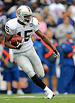 21 September 2008: Oakland Raiders' wide receiver Johnnie Lee Higgins in action against the Buffalo Bills at Ralph Wilson Stadium in Orchard Park, NY. The Bills rallied for 10 unanswered points in the 4th quarter to defeat the Raiders 24-23...Mandatory Photo Credit: Ed Wolfstein Photo