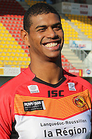 PICTURE BY CATALANS DRAGONS - Rugby League - Super League - Catalans Dragons 2013 Photo Day - Gilbert Brutus Stadium, Perpignan, France - 07/01/13 - Catalans Leon Pryce.