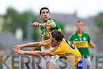 Bryan Sheehan, Kerry in action against Gordon Kelly, Clare in the Munster Senior Championship Semi Final in Cusack Park, Ennis on Sunday.