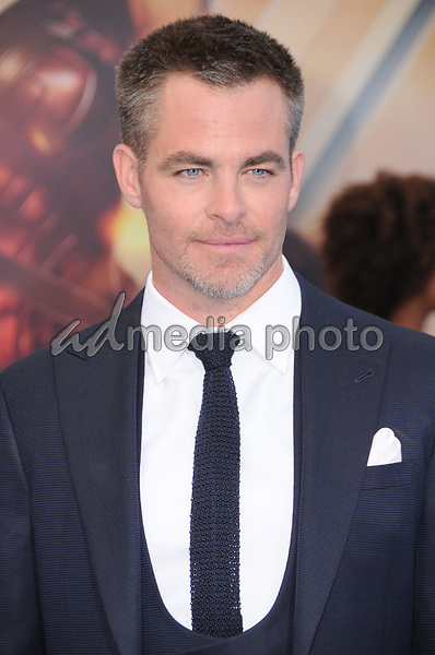"25 May 2017 - Hollywood, California - Chris Pine. World  Premiere of Warner Bros. Pictures'  ""Wonder Woman"" held at The Pantages Theater in Hollywood. Photo Credit: Birdie Thompson/AdMedia"