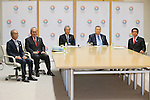 (L to R) Toshiyuki Akiyama, Mitsunori Torihara, Yoshiro Mori. Tsunekazu Takeda, Hakubun Shimomura, JANUARY 24, 2014 : Tokyo Organising Committeee of the Olympic and Paralympic Games member attend Coordination meeting in Tokyo, Japan. The Tokyo Organising Committee of the Olympic and Paralympic Games (Tokyo 2020) was formally established today and will be headed by former Prime Minister of japan Yoshiro Mori.  (Photo by Yusuke Nakansihi/AFLO SPORT) [1090]