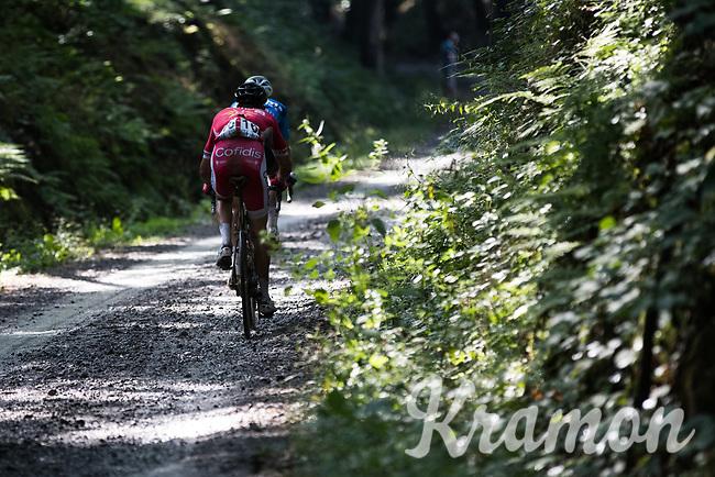 Wout Van Aert (BEL/V&eacute;randas Willems-Crelan) &amp; Kenneth Vanbilsen (BEL/Cofidis) closing in on the race leaders<br /> <br /> Dwars door het Hageland (1.1)<br /> 1 Day Race: Aarschot &gt; Diest (194km)