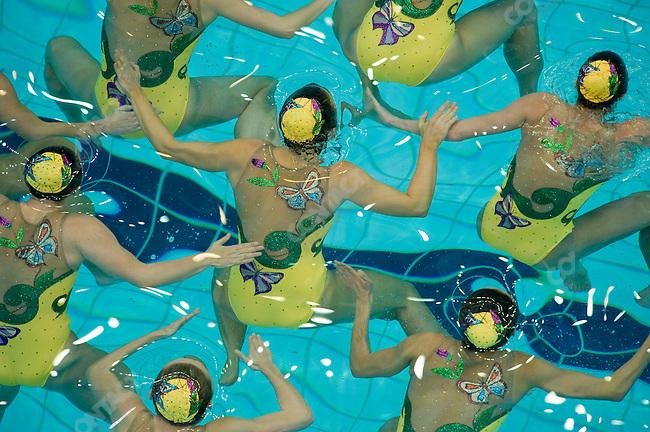 Synchronized Swimming, Australia, National Aquatics Center, Summer Olympics, Beijing, China, August 22, 2008