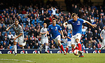 Lee McCulloch pounces on the rebound to score goal no 2 for Rangers against Queens Park