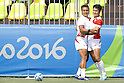 (L-R)   Lomano Lava Lemeki, Teruya Goto (JPN), <br /> AUGUST 9, 2016 - / Rugby Sevens : <br /> Men's Pool Round <br /> between New Zeland 12-14 Japan <br /> at Deodoro Stadium <br /> during the Rio 2016 Olympic Games in Rio de Janeiro, Brazil. <br /> (Photo by Yusuke Nakanishi/AFLO SPORT)