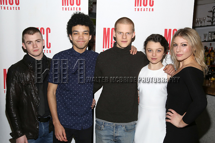 Jack DiFalco, Justice Smith, Lucas Hedges, Stefania LaVie Owen and Ari Graynor attend the 'Yen' Opening Night After Party at the Sushisamba on January 31, 2017 in New York City.