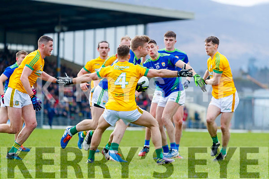 Tommy Walsh, Kerry in action against David Toner, Meath during the Allianz Football League Division 1 Round 4 match between Kerry and Meath at Fitzgerald Stadium in Killarney, on Sunday.