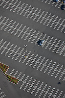 Parking lot, Boston, MA aerial view