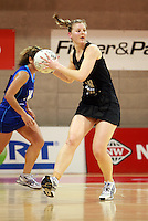 07.08.2010 Silver Ferns Katrina Grant in action during the Silver Ferns v Samoa netball test match played at Te Rauparaha Arena in Porirua Wellington. Mandatory Photo Credit ©Michael Bradley.