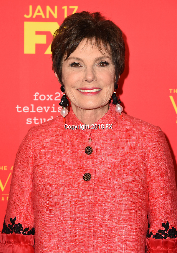 """HOLLYWOOD - JANUARY 8: Maureen Orth attends the Red Carpet Premiere Event for FX's """"The Assassination of Gianni Versace: American Crime Story"""" at ArcLight Hollywood on January 8, 2018, in Hollywood, California. (Photo by Scott Kirkland/FX/PictureGroup)"""