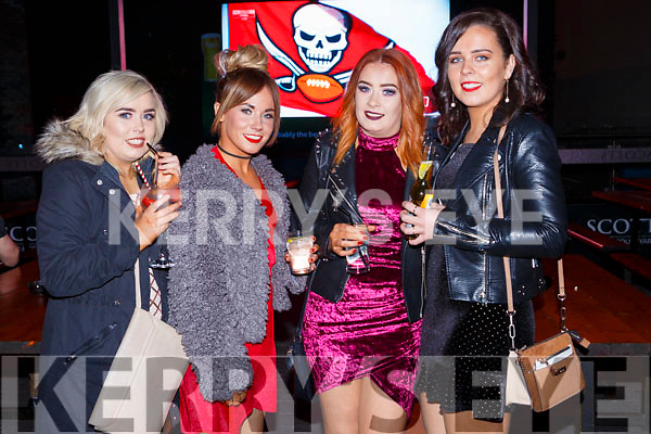 Lorna O'Brien, Chantel Ryan, Mary Casey and Annie O'Rawe seeing in the New Year in Scotts bar