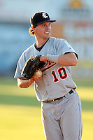 Connecticut Tigers third baseman Josh Ashenbrenner (10) during a double header vs. the Batavia Muckdogs at Dwyer Stadium in Batavia, New York July 10, 2010.  Connecticut dropped the first game 3-5 then defeated Batavia 8-1 in the night cap.  Photo By Mike Janes/Four Seam Images