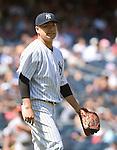 Masahiro Tanaka (Yankees), JULY 23, 2015 - MLB : New York Yankees starting pitcher Masahiro Tanaka reacts during a baseball game against the Baltimore Orioles at Yankee Stadium in New York, United States. (Photo by AFLO)