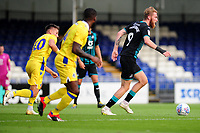 Oli McBurnie of Swansea City in action during the pre-season friendly match between Bristol Rovers and Swansea City at The Memorial Stadium in Bristol, England, UK. Tuesday, 23 July 2019