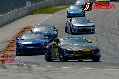 8-10 August  2014, Elkhart Lake, Wisconsin USA<br /> 07, Aston Martin, Vantage, GS, Max Riddle, Kris Wilson<br /> &copy;2014, Richard Dole<br /> LAT Photo USA for IMSA