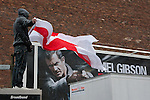© Joel Goodman - 07973 332324 - all rights reserved . 23/01/2010 . Stoke , UK . The English Defence League ( EDL ) hold a demonstration and rally in Stoke . Photo credit : Joel Goodman