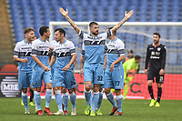 Celebration after  goal of Francesco Acerbi Lazio. Goal celebration.<br /> Roma 22-12-2018 Stadio Olimpico<br /> Football Calcio Campionato Serie A<br /> 2018/2019 <br /> Lazio - Cagliari<br /> Foto Antonietta Baldassarre / Insidefoto