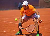 Austria, Kitzbuhel, Juli 15, 2015, Tennis, Davis Cup, Pracise Dutch team, Jean-Julien Rojer<br /> Photo: Tennisimages/Henk Koster