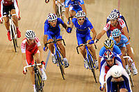 Ukraine's riders relay during the men's madison during cycling competition in Beijing 2008 Olympics, on August 19, 2008, in Beijing, China. Photo by Lucas Schifres/Pictobank/Cameleon/ABACAPRESS.COM