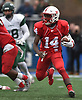 Terrance Edmond #14 of f Freeport picks up yards on a quarterback keep during the Class I Long Island Championship against Floyd at Shuart Stadium in Hempstead on Saturday, Nov. 24, 2018.