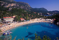 Paleokastritsa resort area, Corfu, Greece