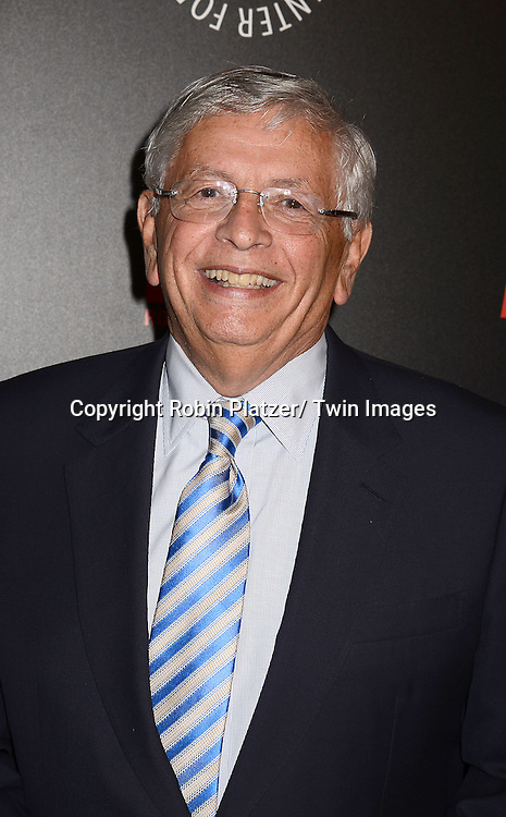 David Stern attends The Paley Center for Media's Annual Benefit Dinner honoring ESPN' s 35th Anniversary on May 28, 2014 at 583 Park Avenue in New York City, NY, USA.