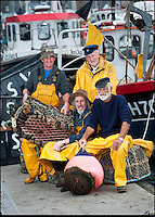 BNPS.co.uk (01202 558833)<br /> Pic: PhilYeomans/BNPS<br /> <br /> l-r Kelvin Moore, Kevin Hart, David Parrott and Ivor Charles on Weymouth Quay<br /> <br /> Lights, camera, plankton!<br /> <br /> A crew of fishermen are enjoying unlikely sideline careers as actors in blockbuster films - thanks to their salty sea dog looks.<br /> <br /> The gang's craggy features, big beards and wild hair have helped them bag roles alongside Hollywood A-listers such as Johnny Depp and Charlize Theron.<br /> <br /> As many as 12 weather-beaten fishermen from Weymouth, Dorset, have found success on the big screen since signing up with a casting agency.<br /> <br /> And thanks to their authentic appearances they are regularly snapped by film producers wanting to make nautical scenes more realistic.