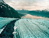 USA, Alaska, Colony Glacier in Chugach State Park in the Chugach Mountains (B&W)