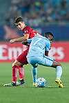 Shanghai FC Forward Oscar Emboaba Junior (L) fights for the ball with Jiangsu FC Midfielder Ramires Santos (R) during the AFC Champions League 2017 Round of 16 match between Jiangsu FC (CHN) vs Shanghai SIPG FC (CHN) at the Nanjing Olympic Stadium on 31 May 2017 in Nanjing, China. Photo by Marcio Rodrigo Machado / Power Sport Images