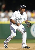 04 October 2009: Seattle Mariners third baseman #29 Adrian Beltre sets up at third base against the Texas Rangers. Seattle won 4-3 over the Texas Rangers at Safeco Field in Seattle, Washington.
