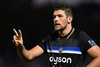 Charlie Ewels of Bath Rugby. European Rugby Champions Cup match, between Bath Rugby and Benetton Rugby on October 14, 2017 at the Recreation Ground in Bath, England. Photo by: Patrick Khachfe / Onside Images