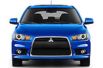 Car photography straight front view of a 2015 Mitsubishi Lancer  Sportback 5 Door Hatchback
