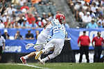 30 MAY 2016: Stephen Kelly (24) and Austin Henningsen (18) seen during the Division 1 Men's Lacrosse Championship between the University of Maryland and the University of North Carolina at Lincoln Financial Field in Philadelphia, PA. Larry French/NCAA Photos