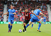30th September 2017, Vitality Stadium, Bournemouth, England; EPL Premier League football, Bournemouth versus Leicester; Joshua King of Bournemouth is fouled by Harry Maguire of Leicester and awarded a free kick