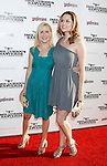 "HOLLYWOOD, CA. - August 10: Actresses Angela Kinsey and Jenna Fischer arrive at the Los Angeles premiere of ""Inglorious Basterds"" at the Grauman's Chinese Theatre on August 10, 2009 in Hollywood, California."