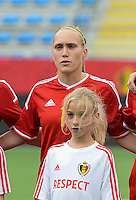 20150523 - SINT-TRUIDEN ,  BELGIUM : Belgian Janice Cayman pictured during the friendly soccer game between the Belgian Red Flames and Norway, a preparation game for Norway for the Women's 2015 World Cup, Saturday 23 May 2015 at Staaien in Sint-Truiden , Belgium. PHOTO DAVID CATRY