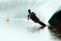 Man water skiing.