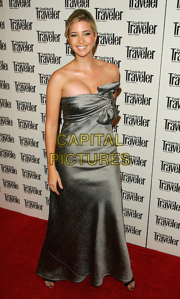 IVANKA TRUMP.At the Conde Nast Traveler 19th Annual Readers' Choice Awards at the American Museum of Natural History, New York, NY, USA..October 16th, 2006.Ref: ADM/JL.full length strapless grey gray silver satin dress bow.www.capitalpictures.com.sales@capitalpictures.com.©Jackson Lee/AdMedia/Capital Pictures.