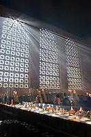Basílica Nova de Nossa Senhora Aparecida ( Nossa Senhora Aparecida New Basilica ), one of the largest catholic temples in the world - Candles room ( Sala das Velas ) - Aparecida do Norte receives more than 7 million tourists a year making it the most popular religious pilgrimage site in Latin America.