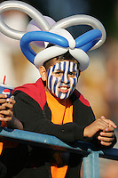 San Jose Earthquakes fan. The San Jose Earthquakes defeated the Colorado Rapids 1-0 at Spartan Stadium in San Jose, CA on June 29, 2005.