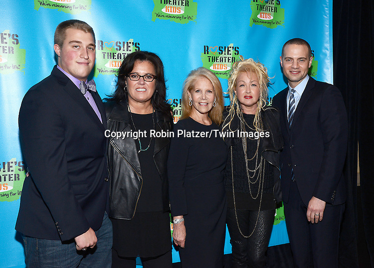 Rosie O'Donnell,  Parker, Daryl Roth, Cyndi Lauper and Jordan Roth  attend Rosie O'Donnell's 11th Annual Rosie's Theater Kids Gala on September 22, 2014 at The New York Marriott Marquis in New York City. <br /> <br /> photo by Robin Platzer/Twin Images<br />  <br /> phone number 212-935-0770
